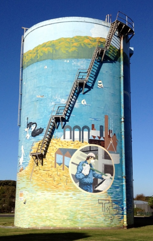 The Big Water Tank Mural, Georgetown TAS