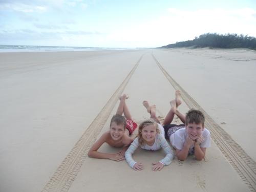 The kids on 75 mile Beach