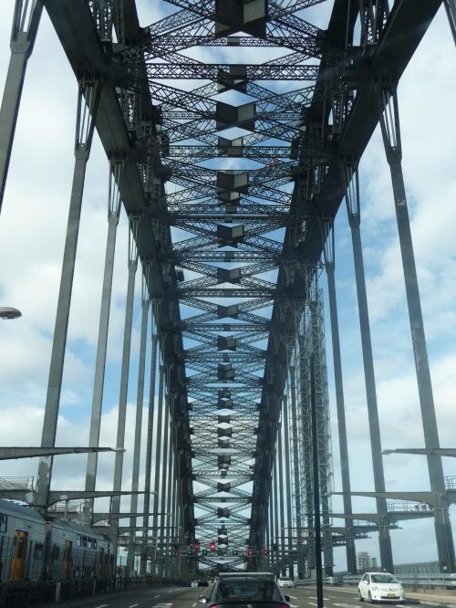 Driving over the bridge