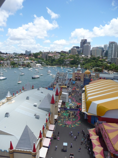 The view over Luna Park from the ferris wheel