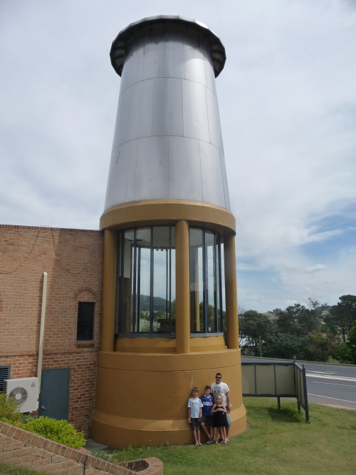 The Big Miner's Lamp at Lithgow Visitor's Centre