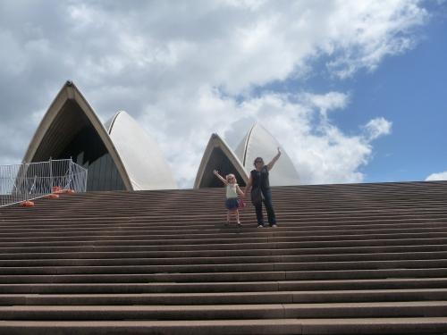 Emma and I on The Opera House steps