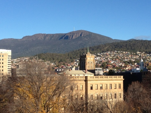 Taken from the roof of Hobart Council - love this shot