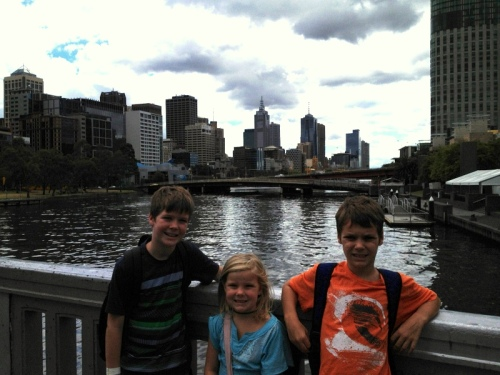 Crossing the Yarra River