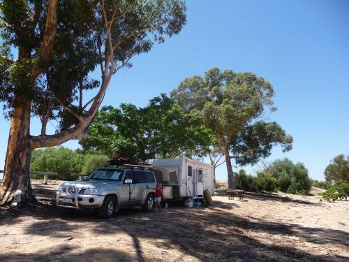 Our campsite at Lake Benanee