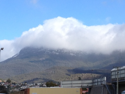 A snow capped Mt Wellington