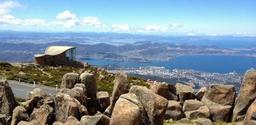 A view from Mt Wellington