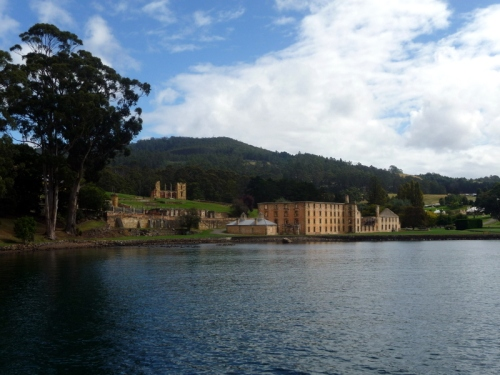 Looking towards Port Arthur from the boat