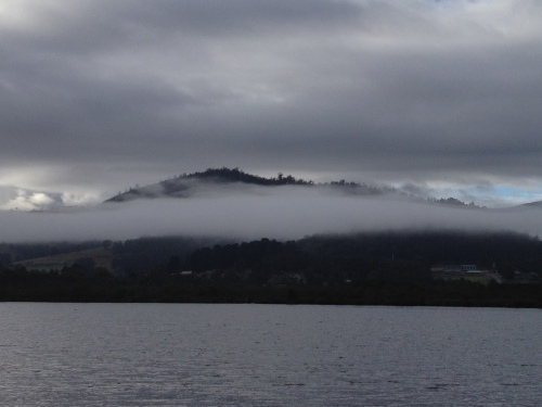 Early morning looking over The Huon River at Franklin