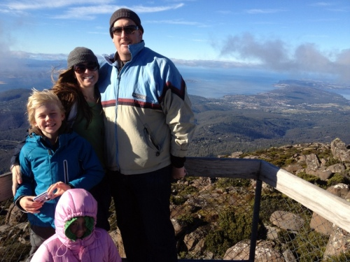 The Mighty Masons at the top of Mount Wellington