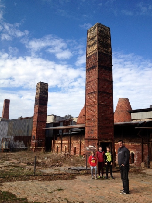 Original chimneys at Bendigo Pottery