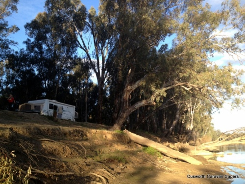 Our camping spot on the banks of The Murray